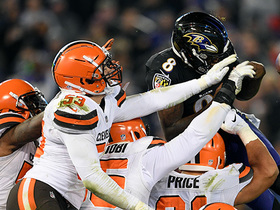 Browns DENY Lamar's goal-line leap for critical red-zone turnover