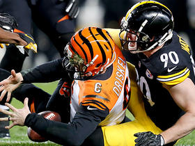 T.J. Watt overpowers Bengals' OL for strip-sack