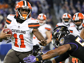 Antonio Callaway weaves through Ravens on punt return for 37 yards