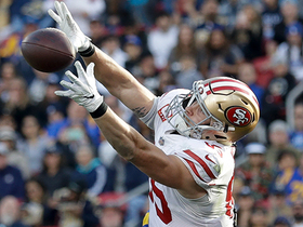 George Kittle gets big air to make leaping 13-yard grab