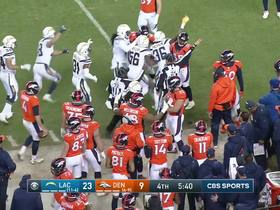 Chargers recover fumble near sideline on Broncos' kick return