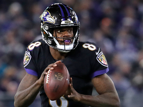 Lamar evades Browns' blitz to hit Andrews for a first down