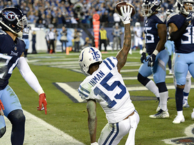 Inman hauls in tough TD catch after Luck extends the play