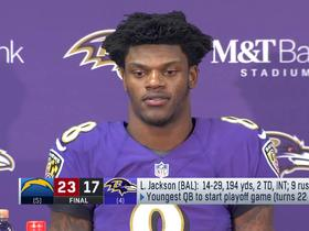 Lamar Jackson 'ticked off' after wild-card loss to Chargers