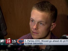 Cody Parkey reacts to late FG miss vs. Eagles
