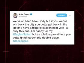 Kobe imparts advice to Parkey on Twitter