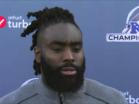 Demario Davis addresses the media ahead of NFC Championship