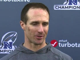 Drew Brees addresses the media ahead of NFC Championship
