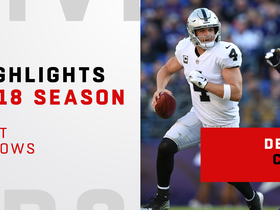Derek Carr's best throws | 2018 season