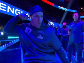 Gronk shows off his dance moves at Opening Night