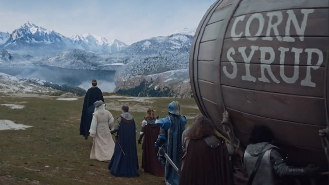 The Bud Light kingdom travels to make a corn syrup delivery