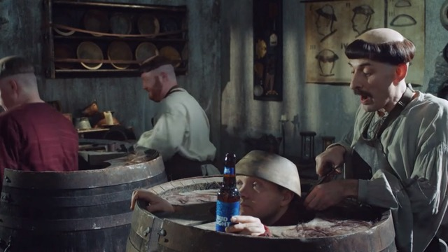 Bud Light: 'Two medieval barbers'