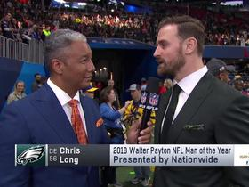 Chris Long discusses what it means to win Walter Payton NFL Man of the Year