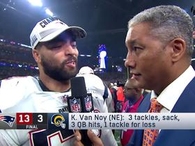 Kyle Van Noy discusses Patriots' dominant defensive win in SBLIII