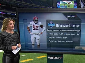 Cynthia Frelund reveals ideal interior-lineman prototype in 2019 draft