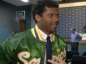 Wilson dons Sonics jacket after presser: 'We want to bring them back' to Seattle