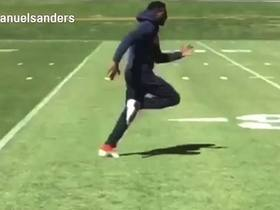 Emmanuel Sanders shows recovery progress by running in Instagram video