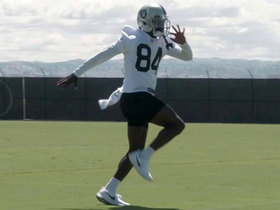 First look at Antonio Brown in Raiders OTAs