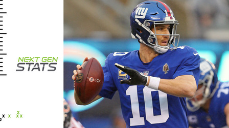 Next Gen Stats: How New York Giants quarterback Eli Manning performs under pressure