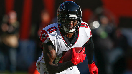 Next Gen Stats: Comparing Atlanta Falcons wide receiver Julio Jones' stats based on alignment