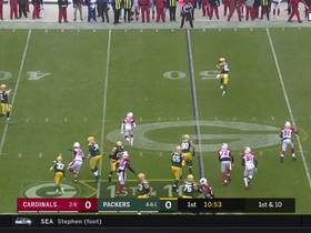 St. Brown drops perfect pass from Rodgers