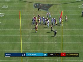 Slye makes 46-yard FG to give Panthers their first points of the season