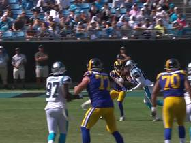James Bradberry lays out to pick off Jared Goff's throw