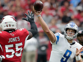 Chandler Jones ambushes Stafford for quick strip-sack