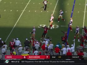 Bucs stall 49ers drive with forced fumble to end half