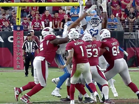 Lions bat down Murray's pass at LOS to force fourth down