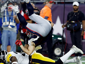 Edelman somersaults his way to 24-yard gain