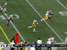 James Conner makes strong cut for 23-yard catch and run