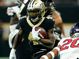 Alvin Kamara slices through Texans' defense on quick 28-yard run