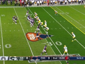Trubisky's incomplete passes vs. Packers