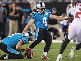 Slye from 55! Panthers kicker nails field goal to end half