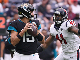 Zach Cunningham blitzes untouched through Jaguars' O-line for sack
