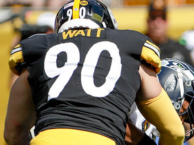 T.J. Watt loops inside for big third-down sack of Russell Wilson