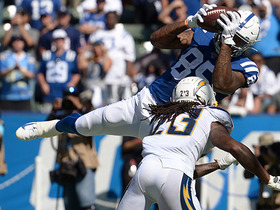 Ebron hurdles Titans defender for first down