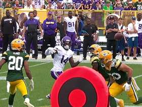 Preston Smith comes down with Cousins' deflected pass for the interception