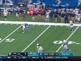 Marvin Jones reaches for pass from Stafford on third down