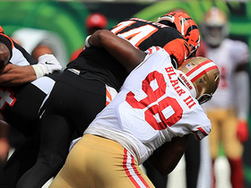 Ronald Blair brings down Andy Dalton