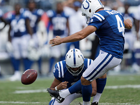 Vinatieri's PAT attempt bounces off upright