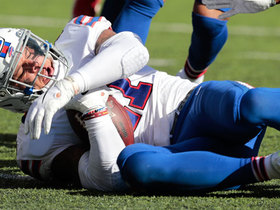 Eli Manning is picked off by Bills' Jordan Poyer to seal game