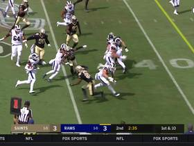 Gurley hurdles defender on 20-yard run