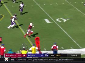 Christian Kirk takes Kyler Murray dump-off pass down to goal line
