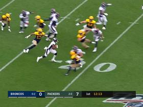 Diontae Spencer shows speed on kick return for 60 yards