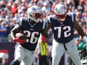Sony Michel navigates through traffic for Pats' first TD