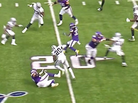 Cook weaves through defense with 18-yard screen on third down