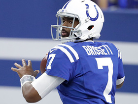 Jacoby Brissett's second TD toss comes just seconds before halftime