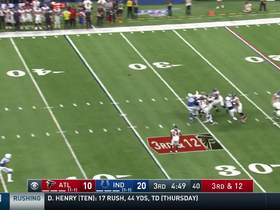 Matt Ryan dissects Colts' defenders for huge third-down throw to Julio Jones